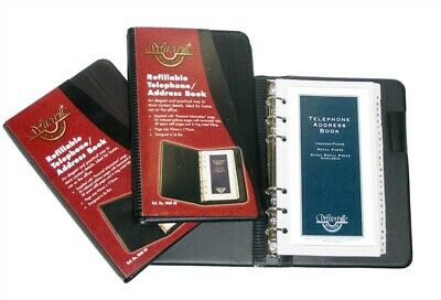 "Colby ""Waterville"" Refillable Telephone / Address Book WAB-30- Black"