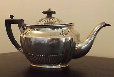 Scrap Use English Sterling Silver Tea Pot Hallmarked Sheffield 1907 302 Grams