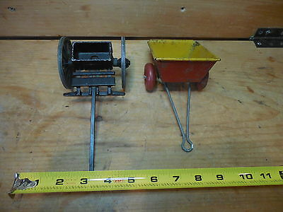 Lot of two two wagons..Tin toys/Cast Iron