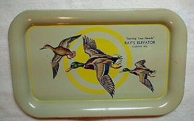 """VTG advertising tray- Ray's Elevator Allenton, Wis.- Excellent cond.- 9"""" X 14"""""""