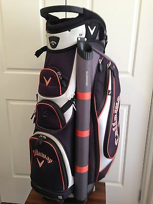Callaway Forrester cart golf bag, as new condition