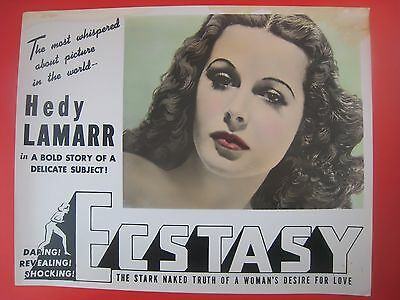 Vintage  Lobby Card..' Ecstasy !   '...with Beautiful Hedy Lamarr ...# 52