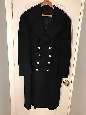 """Ny Fire Department Wool Dark Blue Dress Overcoat Made By """" Merson  Uniforms"""""""
