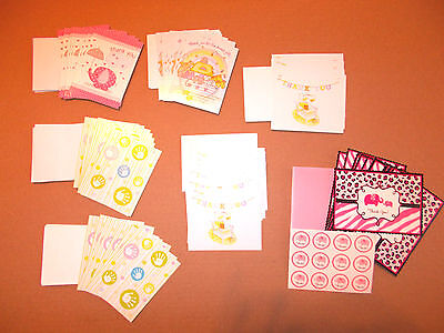 Baby Shower Girl Thank You Cards( LOT 68 )