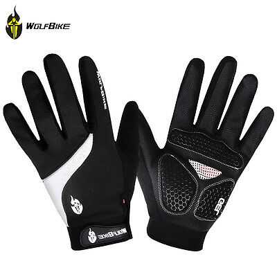 2017 Men Outdoor Sport Bicycle GEL Pad Full Finger Gloves Cycling Hiking Size XL