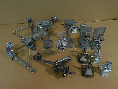 14 pc. lot of Screen Printing Clamps and Screen Supports
