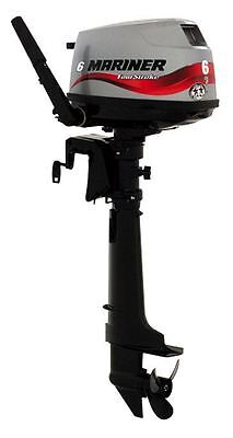 Mariner 4 Stroke Outboard Motor 6Hp Manual Start Tiller Engine Short Shaft