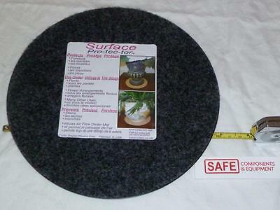 """Plant Mat Surface Protector 10"""" GRAY Fabric Plastic Tray Round Floor 1-EA MM-146"""