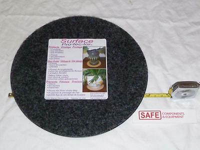 """Plant Mat Surface Protector 8"""" GRAY Fabric Plastic Tray Round Floor QTY-2 MM-147"""