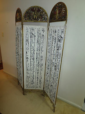 Vintage Egytian room divider screen