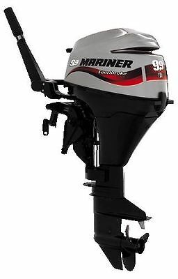 Mariner 4 Stroke Outboard Motor 9Hp Electric, Remote Control Engine Long Shaft