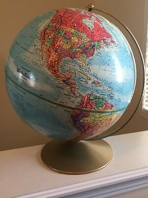 "Vintage Replogle World Nation Globe Rotating  12""  USSR Educational Gift Perfect"