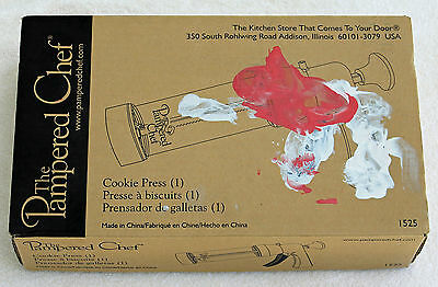 Cookie Press The Pampered Chef 16 Disks #1525