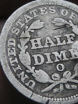 1853 O Seated Liberty Half Dime with Arrows- VG/Fine Details