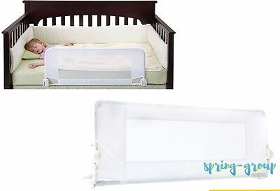 Bed Guard Rail Protection Safety Toddler Cot Child Kids Bedrail Baby 100cm White