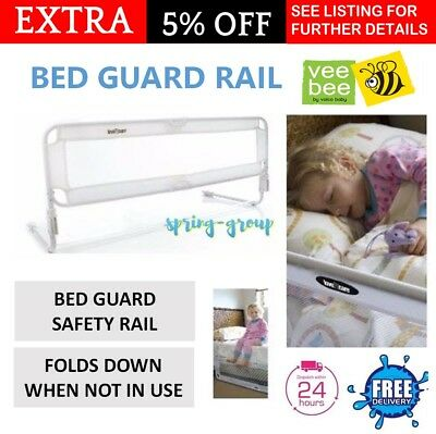 Bed Guard Rail Protection Safety Toddler Cot Child Kid Bedrail 105cm Vee Bee