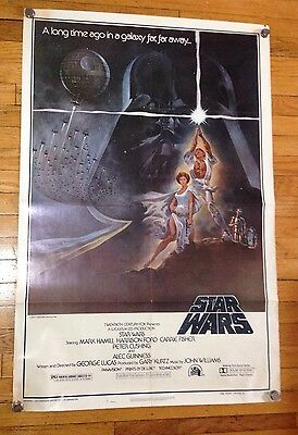 "Star Wars Original Movie Poster 1977 (One Sheet Style-A) 77/21 41"" x 27"""