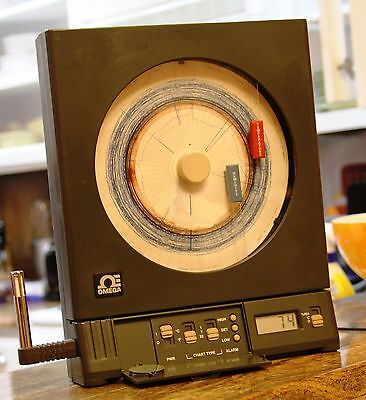 Omega CT485-AL Temperature and RH Chart Recorder with Sensor.Tested and Works