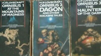 Lovecraft Omnibuses 1 At The Mountain of Madness, 2 Dagon, 3 The  Haunter...