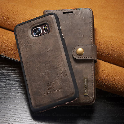 Samsung S7 & S7 edge Leather Removable Wallet Magnetic Flip Card Slot Case Cover