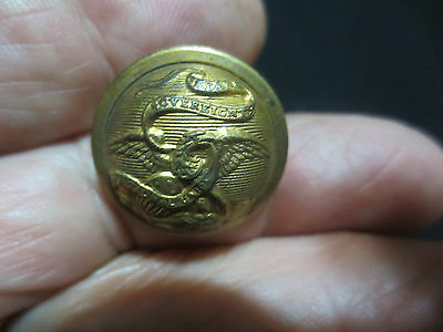 "Rare Illinois State Militia Indian War Era 7/8""  Button-Work Bros & Co. Chicago"