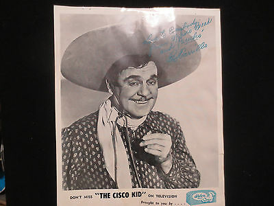 """the Cisco Kid"" Television Program Advertising Weber`s Bread Leo Carrillo Photo"