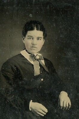 Tintype, Vintage Photo,Pretty Young Woman