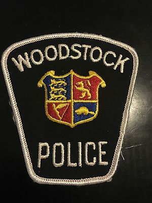 Obsolete & Rare Woodstock, Ontario Police Patch