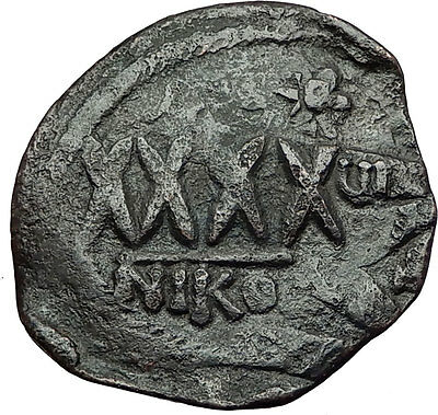 PHOCAS 602AD Nicomedia Follis LARGE Authentic Ancient Byzantine Coin i59357