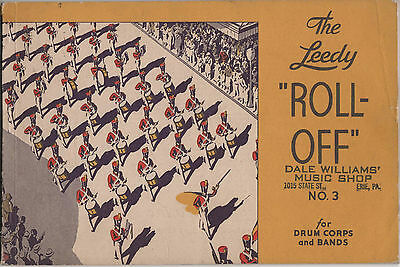 """Vintage Original Leedy """"The Leedy """"Roll-Off"""" No. 3 for Drum Corps & Bands 1934"""