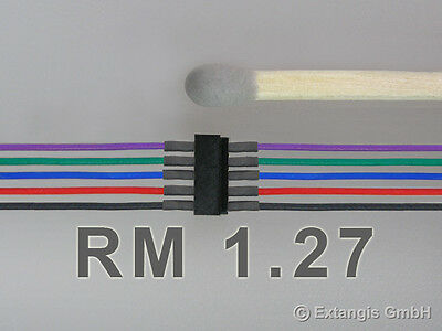 3x Mini-Steckerset 5-polig RM 1,27 Sc/Ro/Bl/Gr/Vi 5 NMRA colours 5pole connector