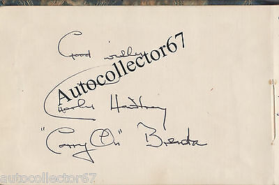 vintage Charles Hawtrey CARRY ON signed AUTOGRAPH book page