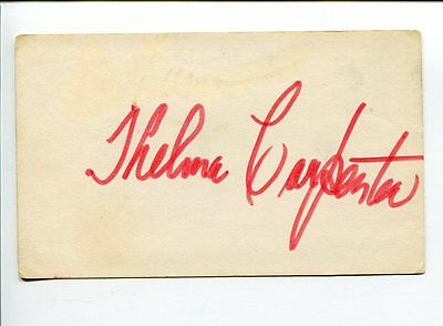 Thelma Carpenter Jazz Singer Actress Miss One The Wiz Signed Autograph