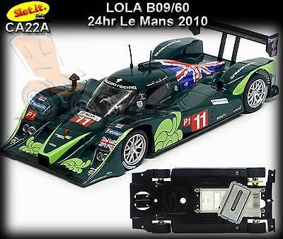 Slot.it CA22A - Lola B09/60 - 24hr Le Mans 2010 - use on Scalextric, Carrera etc