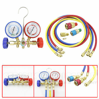 HVAC Diagnostic Manifold Gauge Set R12 R22 R134A R502 Refrigerant Charging