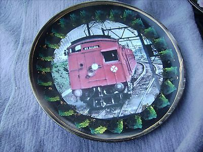 Train Melbourne Red Rattler      On A Decoupage  Plate
