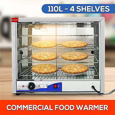 NEW 110L Commercial Display Pie Warmer Display Cabinet Hot Food Showcase