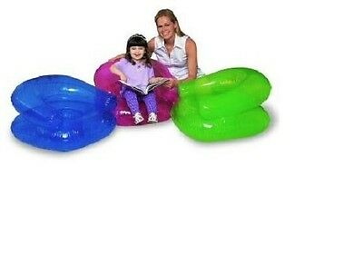 Kids Inflatable Chair 76cm x 76cm Bestway Transparent Barrel Back Comfort Child