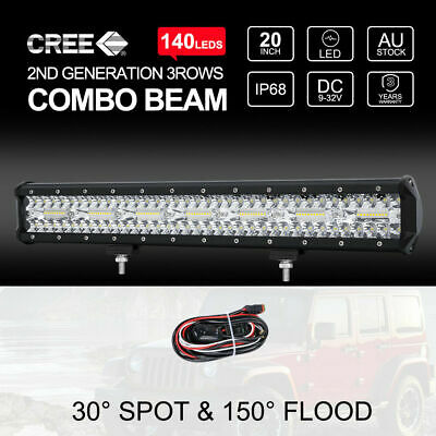 "20"" Inch 294W CREE LED Light Bar SPOT FLOOD COMBO Work Number Plate Frame"