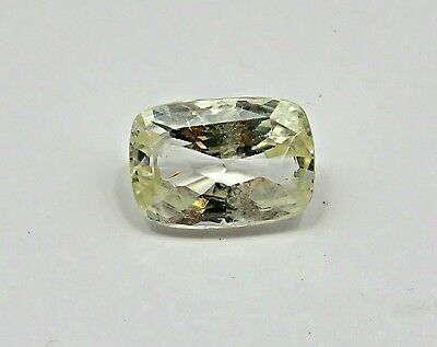 8.20 Ct Natural Certified Ceylon Yellow Sapphire Cushion Cut loose Gemstone