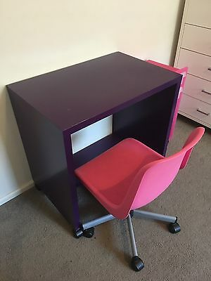 IKEA Kids Desk, Chair And Side Draws.