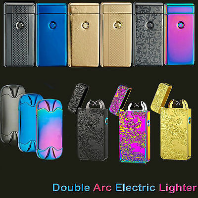 AU  Rechargeable Double ARC USB Electric LIGHTER PULSE Flameless Plasma Torch