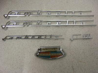 Lambretta  Li 150 Series 3 Badge Set, Legshield, Horncast And Side Panels, Casa