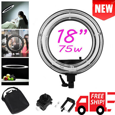 """New 18"""" 75w Dimmable LED SMD Ring Light Kit for Video,Portrait Photography US vP"""