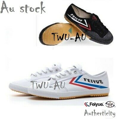 FeiYue canvas shoes for martial art,Taekwondo,Kung Fu Wushu Tai Chi. White&Black
