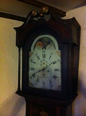 Moon Phase Grandfather Clock For Restoration