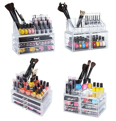 Acrylic Cosmetic Storage Makeup Holder Jewelry Organizer Insert Drawer DIY Case