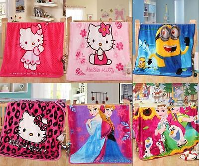 2017 Popular Cartoon Smooth Flannel Blankets Kids Throws Baby Beddings 40''*55''