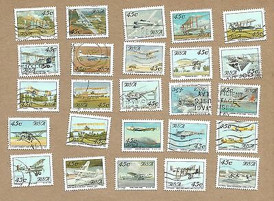 SA: Aviation. Full set 25 + 3 Com Covers + Info Cards + New Air.Letter (Ref 970)