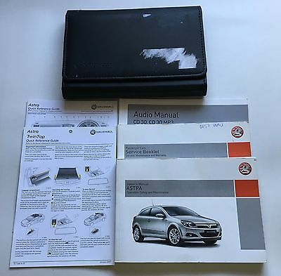 Vauxhall Astra H Genuine Owners Manual Users Handbook Pack 2004-2010